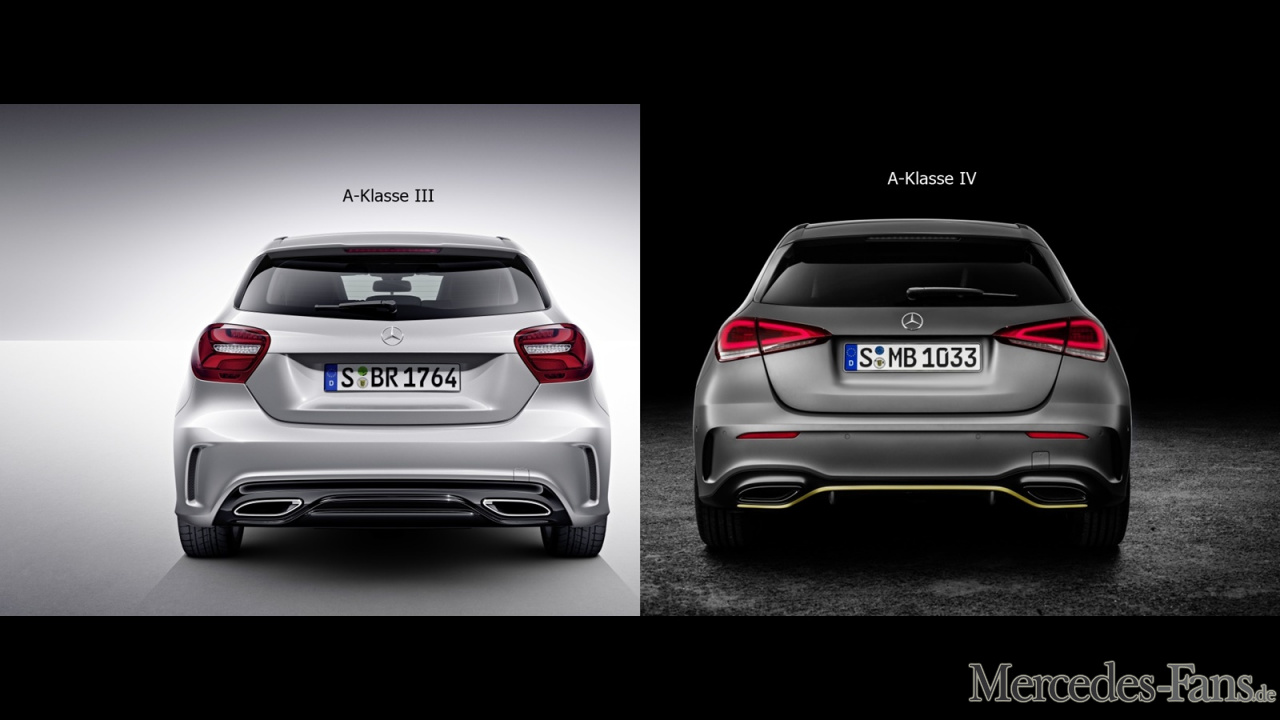 mercedes benz a klasse w176 vs w177 fotostrecke. Black Bedroom Furniture Sets. Home Design Ideas