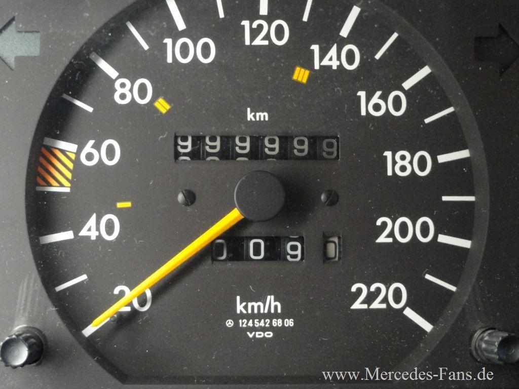 Mercedes W124 Als Kilometer Million 228 R Tachostand 89er