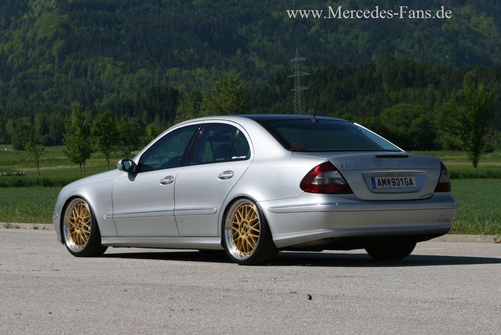 Mercedes E500 Gold Und Silber Lieb Ich Sehr 2003er W211