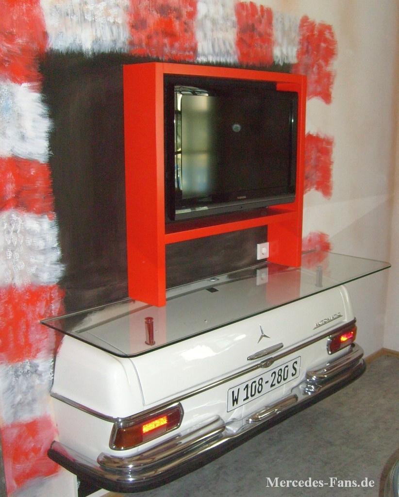 Auto Möbel möbel aus mercedes der fernseher im als hingucker