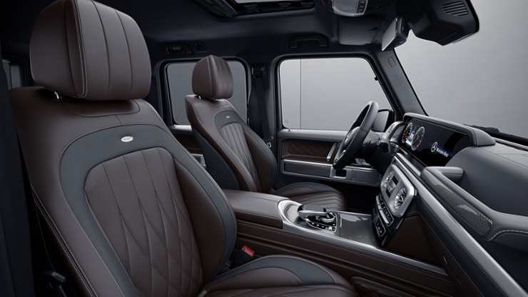 Neue G-Klasse optionale Ausstattung: Exklusiv Interieur Plus ...