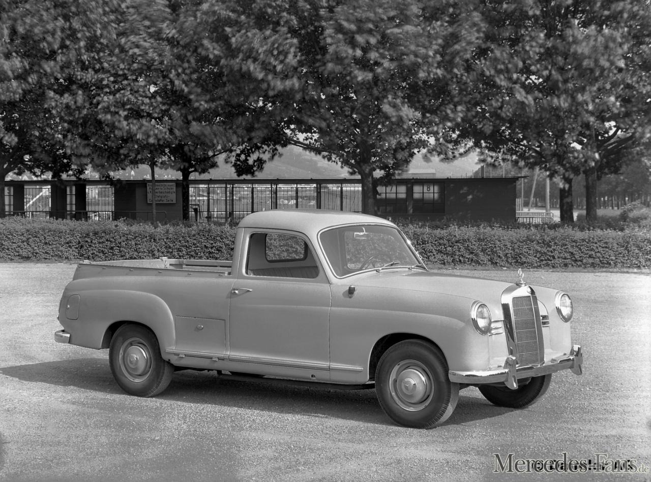 Mercedes Benz Typ 180, Muldenwagen. Aufbau Binz, 1955