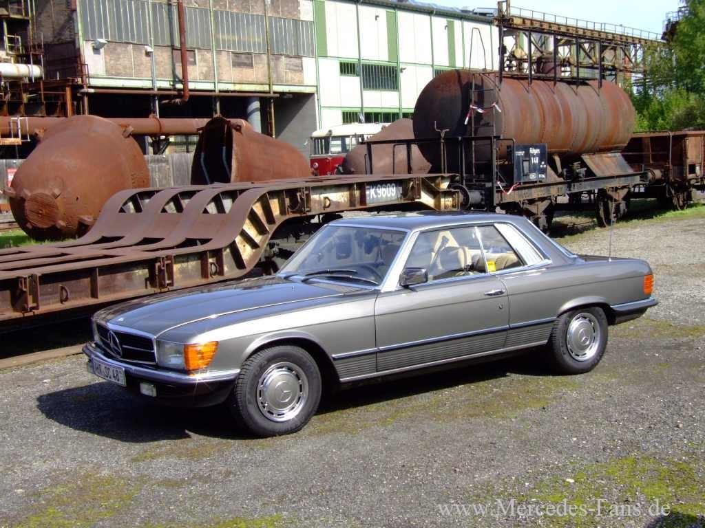 002 Mercedes Klasser W107 380 SLC Youngtimer Original Oldtimeq002
