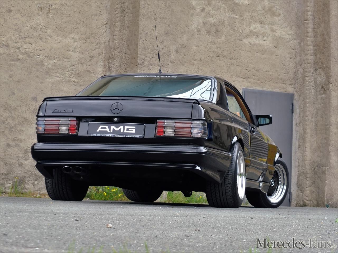 Mercedes-Benz 500 SEC AMG: Schwarz. Breit. Stark: Der 82er