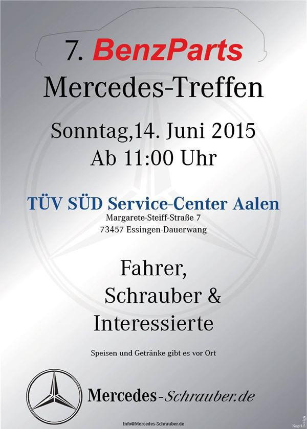 7 benz parts mercedes treffen sonntag 14 juni 2015 t v s d service center aalen. Black Bedroom Furniture Sets. Home Design Ideas