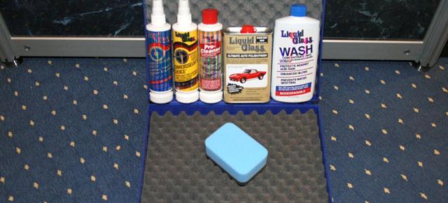 fahrzeugpflege vom feinsten das liquid glass geschenk set. Black Bedroom Furniture Sets. Home Design Ideas