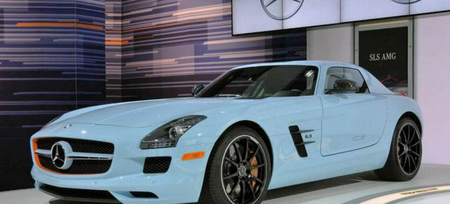 legend r koloriert mercedes sls amg im gulf motorsport. Black Bedroom Furniture Sets. Home Design Ideas