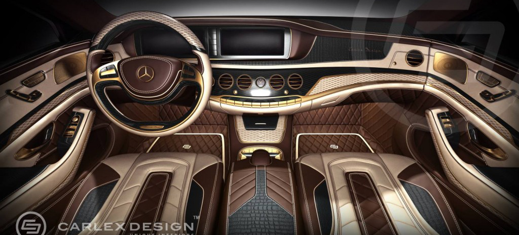 Gold Leder Luxus Ummoeblierung Der Neuen Mercedes S Klasse Carlex Design Schafft Ein Mercedes S Klasse Interieur Der Superlative on mercedes benz cl amg c