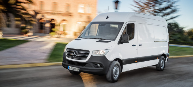 premiere mercedes benz sprinter 2018 der neue sprinter. Black Bedroom Furniture Sets. Home Design Ideas