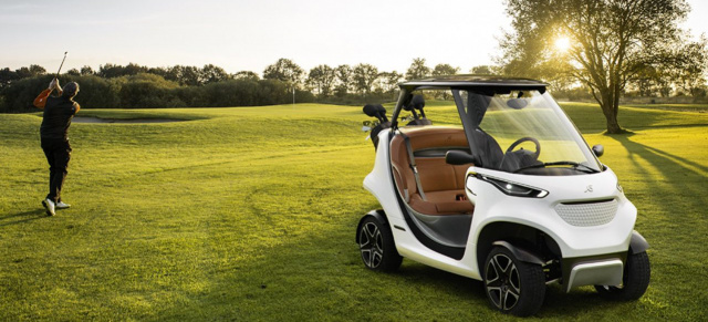 Genfer Auto Salon 2018: Premiere in Genf:  The Garia Golf Car inspired by Mercedes-Benz Style