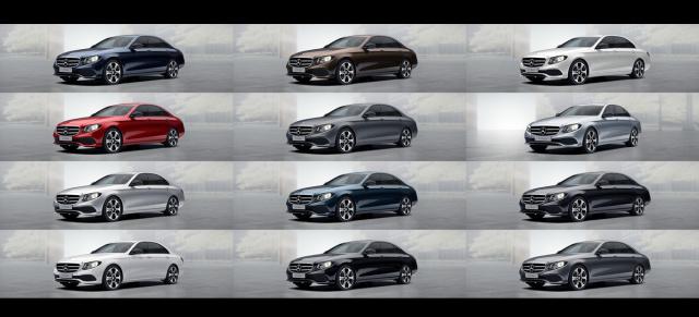 Mercedes-Benz E-Klasse: Die Lackfarben: Die Gabe der Farbe ...