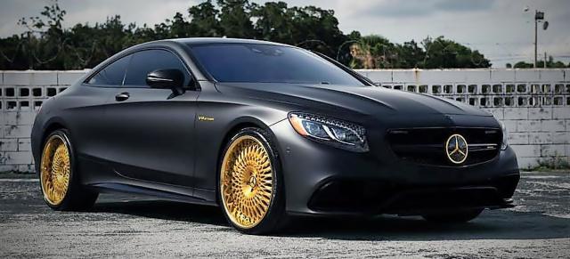 Mercedes-AMG S63 Tuning: Black & Gold: Rassiger Bicolor