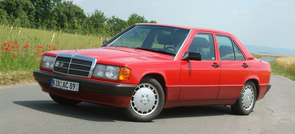 Baby benz in bestform rot und r stig 91er mercedes 190 d for Bob ross mercedes benz