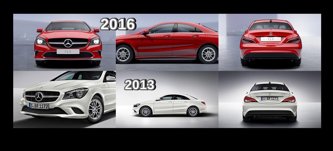 Mercedes Citan Tuning >> Optik-Vergleich: Mercedes-Benz CLA 2013 und 2016: Face to Face: Gegenüberstellung von CLA Coupé ...