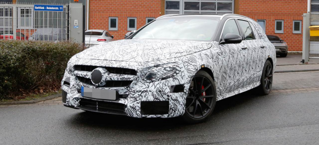 Erlkönig Premiere: Mercedes-AMG E63 T-Modell: Spy Shot Debüt ...