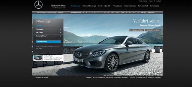 mercedes-benz c-klasse coupé: 05.12.2015: händlerpremiere des neuen