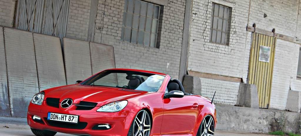 mercedes slk rot und rassig r171 2006er roadster l sst. Black Bedroom Furniture Sets. Home Design Ideas