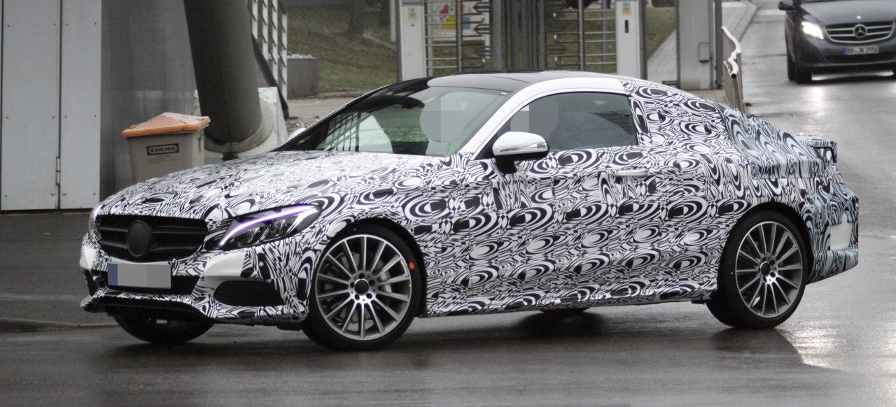 Erlk nig erwischt mercedes benz c klasse coup erste for Mercedes benz fans