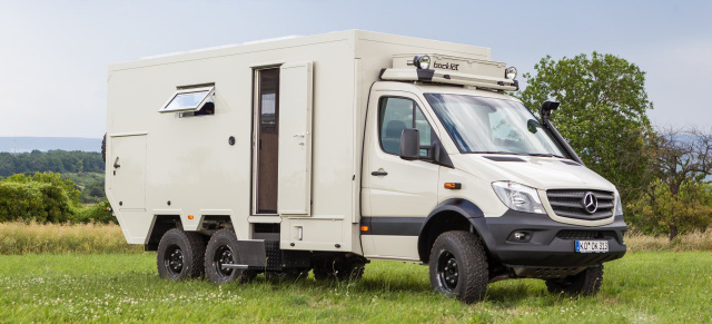 mercedes womo mit sixappeal bocklet dakar 750 reisemobil auf basis mercedes sprinter 519 6x6. Black Bedroom Furniture Sets. Home Design Ideas