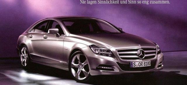 Erste Bilder des neuen 2011 Mercedes-Benz CLS aus der Verkaufs ...