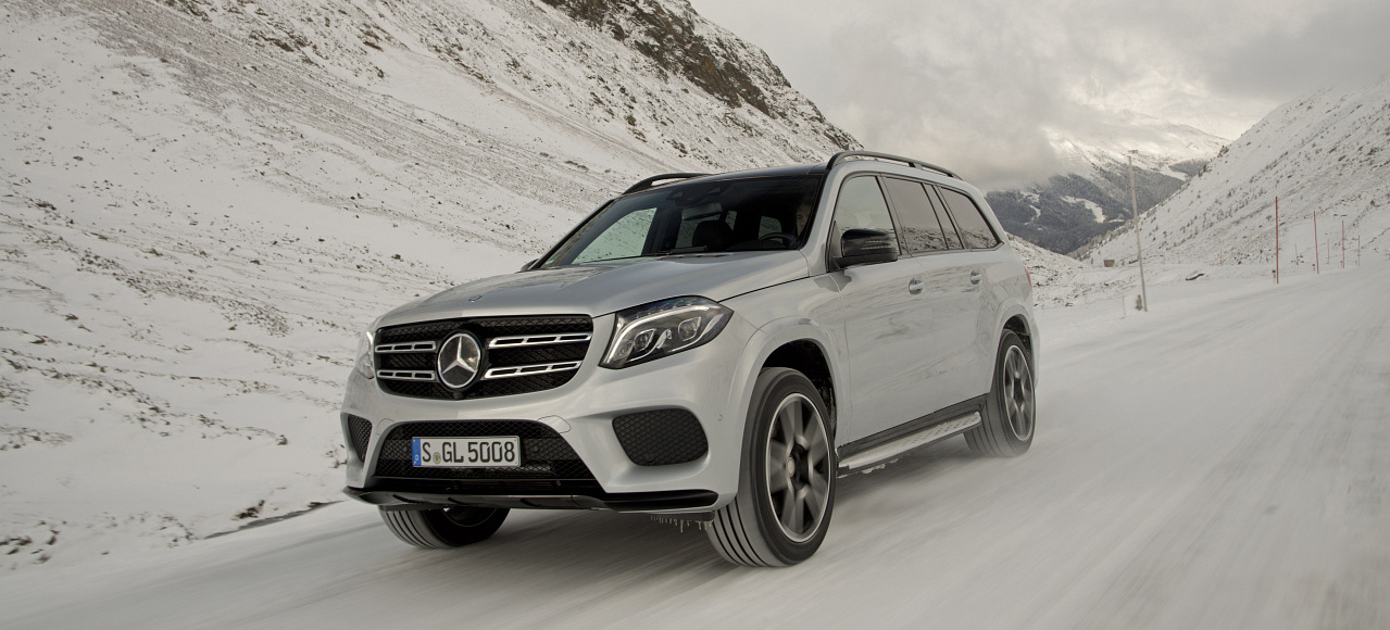 Mercedes Matic In Snow