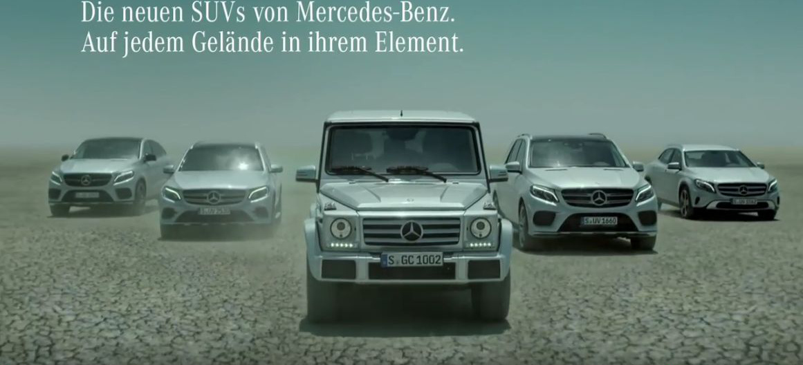 wie hei t das lied in der aktuellen mercedes werbung dramatische kl nge f r die mercedes suvs. Black Bedroom Furniture Sets. Home Design Ideas