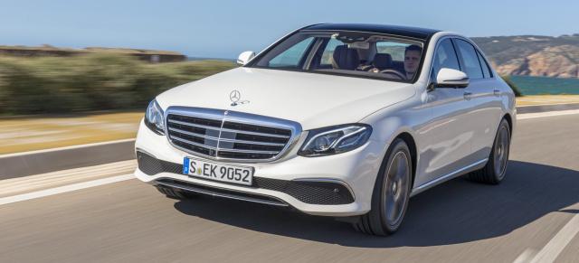 Fahrbericht Mercedes Benz E220d W213 Klassenprimus Mit