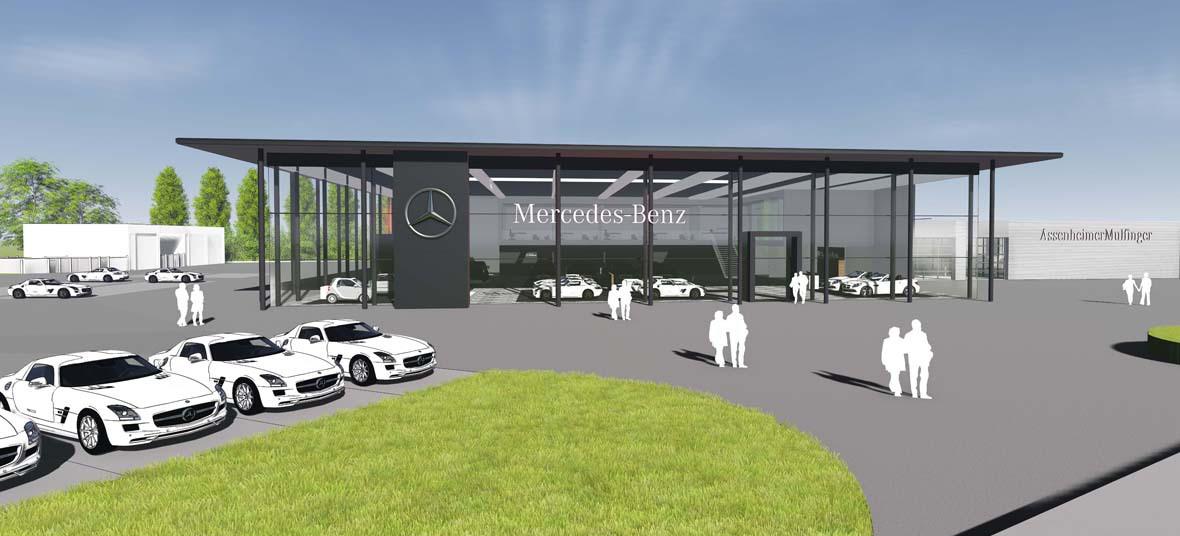 neues mercedes benz autohaus in sinsheim rohrbach. Black Bedroom Furniture Sets. Home Design Ideas