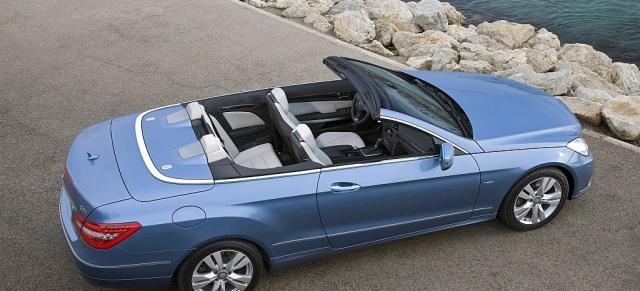 fahrbericht das neue mercedes e klasse cabrio offen 4. Black Bedroom Furniture Sets. Home Design Ideas
