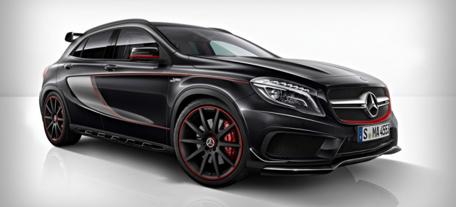 erste fotos mercedes gla 45 amg edition 1 bilder vom mercedes gla 45 amg sondermodell. Black Bedroom Furniture Sets. Home Design Ideas
