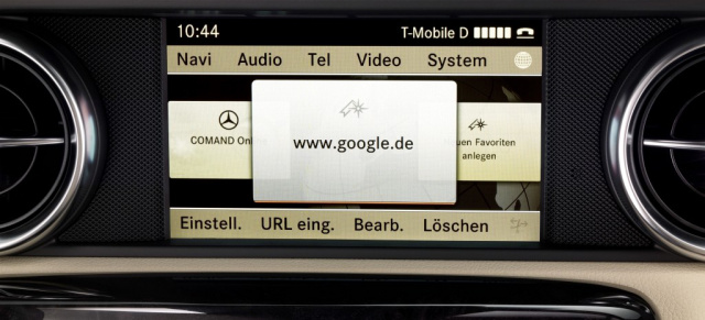 Ins internet mit mercedes benz multimedia system comand for Mercedes benz financial services phone number