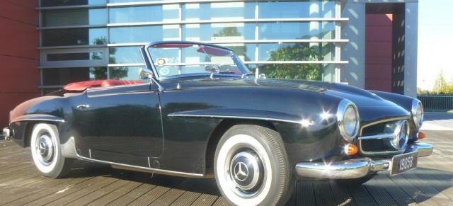 filmstar 1958er mercedes benz 190 sl roadster w121 und. Black Bedroom Furniture Sets. Home Design Ideas