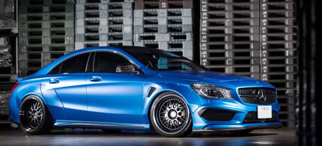 Mercedes Benz Cla Tuning Heiss Und Fettig Japanisches Breitbau Kit