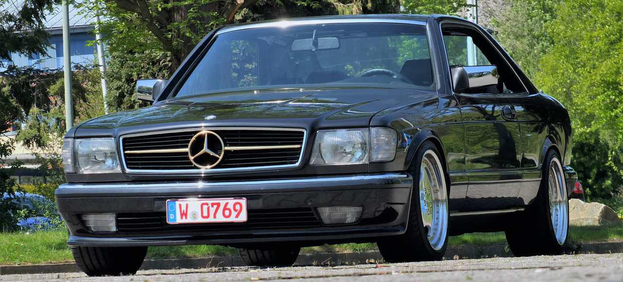 Mercedes benz 500 sec im klassischen sporttrimm echte for Mercedes benz c 500