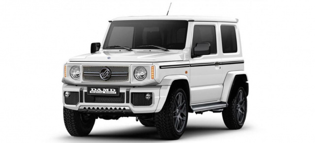 "Dressed to thrill? ""Mercedes G-Klasse"" im Mini-Format: Japan Tuner DAMD transformiert Suzuki Jimny zum ""Little G"""