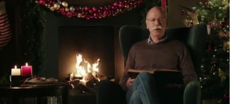 video an die mitarbeiter weihnachtsgr e von dr zetsche. Black Bedroom Furniture Sets. Home Design Ideas