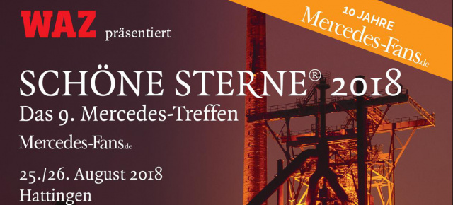 SCHÖNE STERNE® 2018: August 25th & 26th in Hattingen: All about the big Mercedes festival in Hattingen in english language