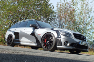 Attacke: Mercedes C63 AMG (S204): 2009er C-Klasse demonstriert Offensivgeist