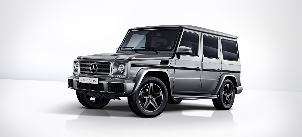 mercedes benz g klasse sondermodell g klasse als limited. Black Bedroom Furniture Sets. Home Design Ideas