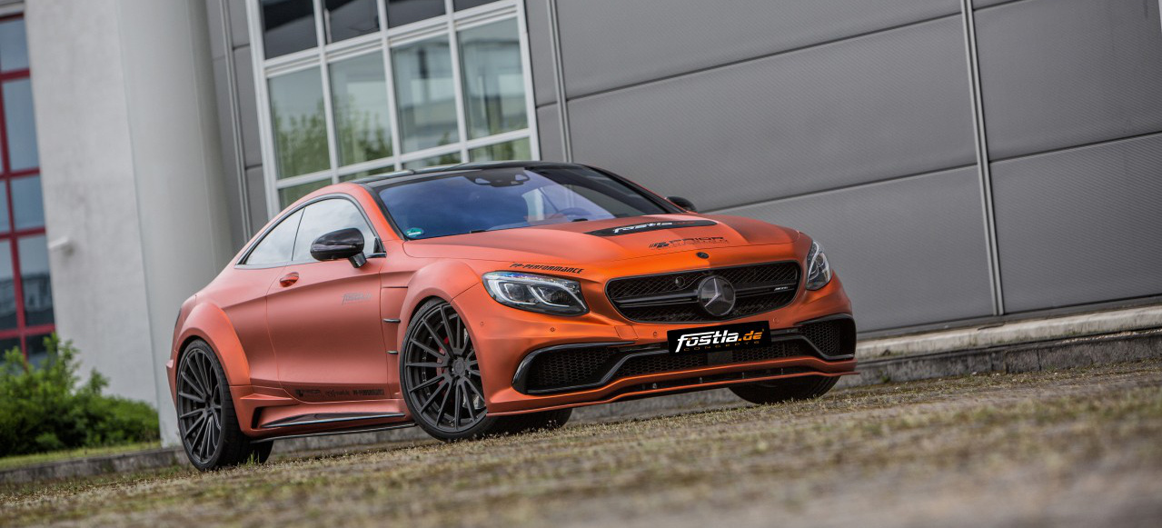 Mercedes-AMG S63 Coupé Tuning: Fette Fruchtbombe: Orange ...