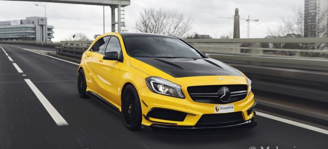 Held in Gelb: Mulgari A Class Project A45 AMG: Markantes Bodykit für den Mercedes A45 AMG