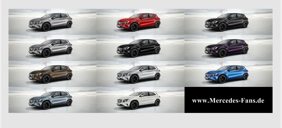 Elf yourself: Die 11 Farben des neuen Mercedes GLA: Auf einen Blick ...