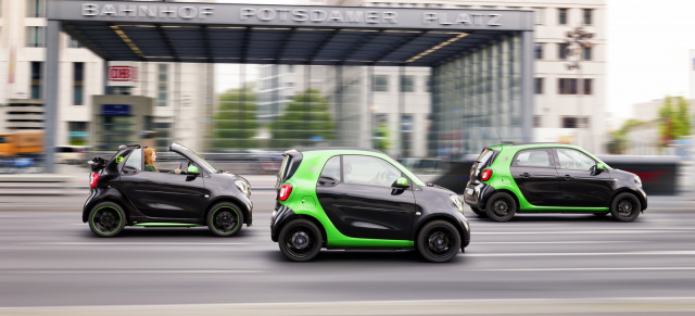 Weltpremiere in Paris: smart electric drive: Elektrisierendes Trio: Alle smart Modelle der Generation 4 werden elektrisch