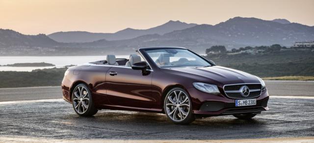 Mercedes Benz E Klasse Cabriolet Modellprogramm Das Neue E Klasse