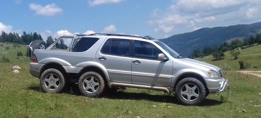 six-star  mercedes-benz ml dreiachser  sixy m-klasse  mercedes-ml 4 x 6 pickup auf ebay