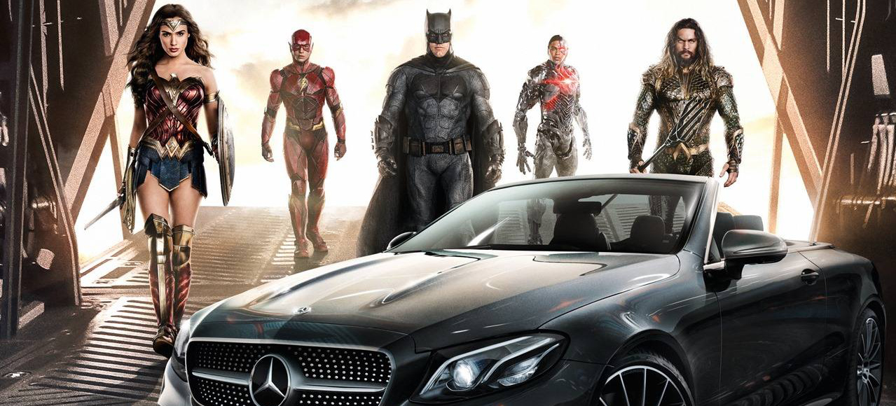 Kinostart justice league justice league superhelden for Justice league mercedes benz