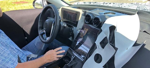 Mercedes-Benz C-Klasse-Erlkönig inside: W206-Spy-Shot ...