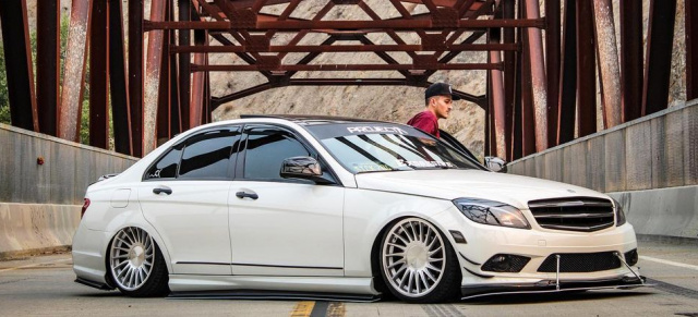 Bagged beauty Benz: This is sick! 2009er Mercedes C300
