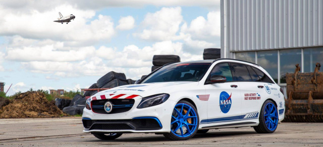 Mercedes C63 AMG: Optik-Tuning: Die etwas andere C63-Optik: C63 S T-Modell im NASA-Look
