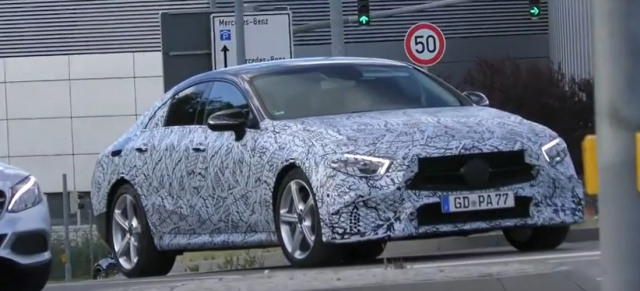 Erlkönig erwischt: Mercedes-Benz CLS 2018: Spy Shot Video: Mercedes-Benz CLS 2018 gefilmt